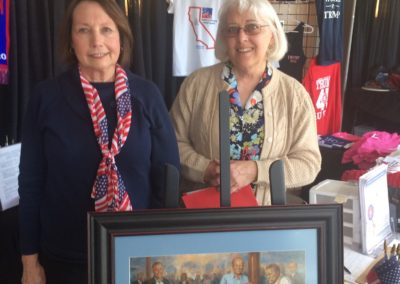 Barbara Sloan and Sue Mason Volunteer and Winner of Opportunity Drawing