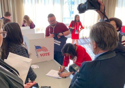 Lisa Moreno voting